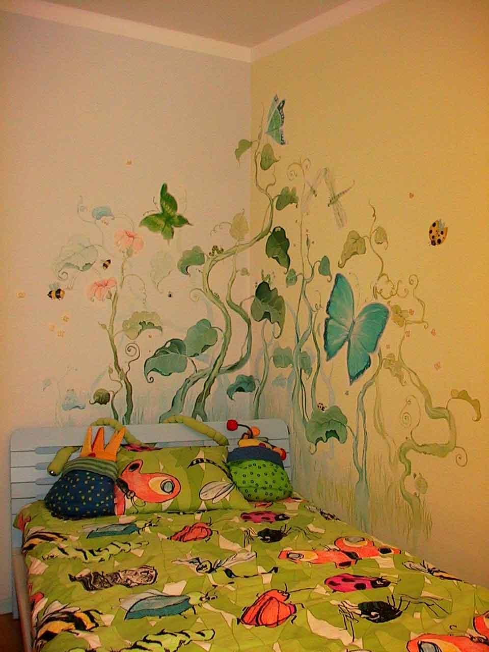 Как оформить стену в спальне в детском саду своими руками фото
